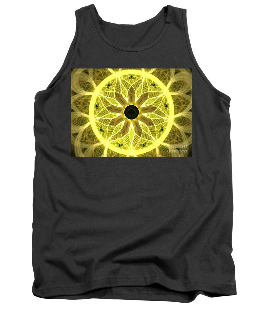 Apophysis Tank Top featuring the digital art Yellow Rays by Kim Sy Ok