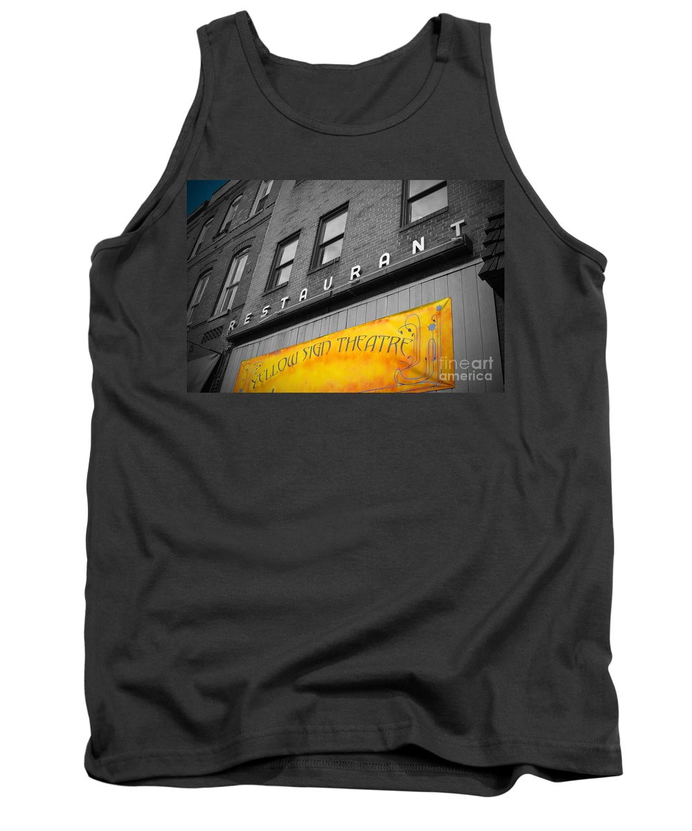 Baltimore Tank Top featuring the photograph Yellow Sign Theatre by Jost Houk