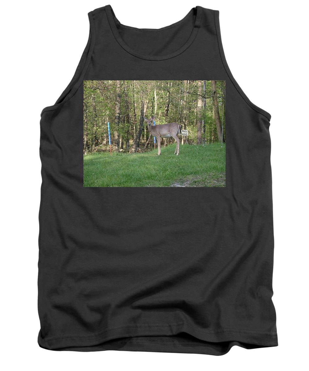 Deer Prints Tank Top featuring the photograph Yes Deer by R A W M