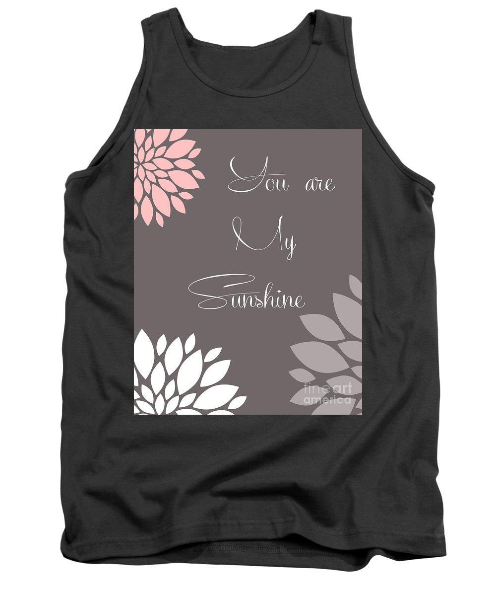 You Tank Top featuring the digital art You Are My Sunshine Peony Flowers by Voros Edit