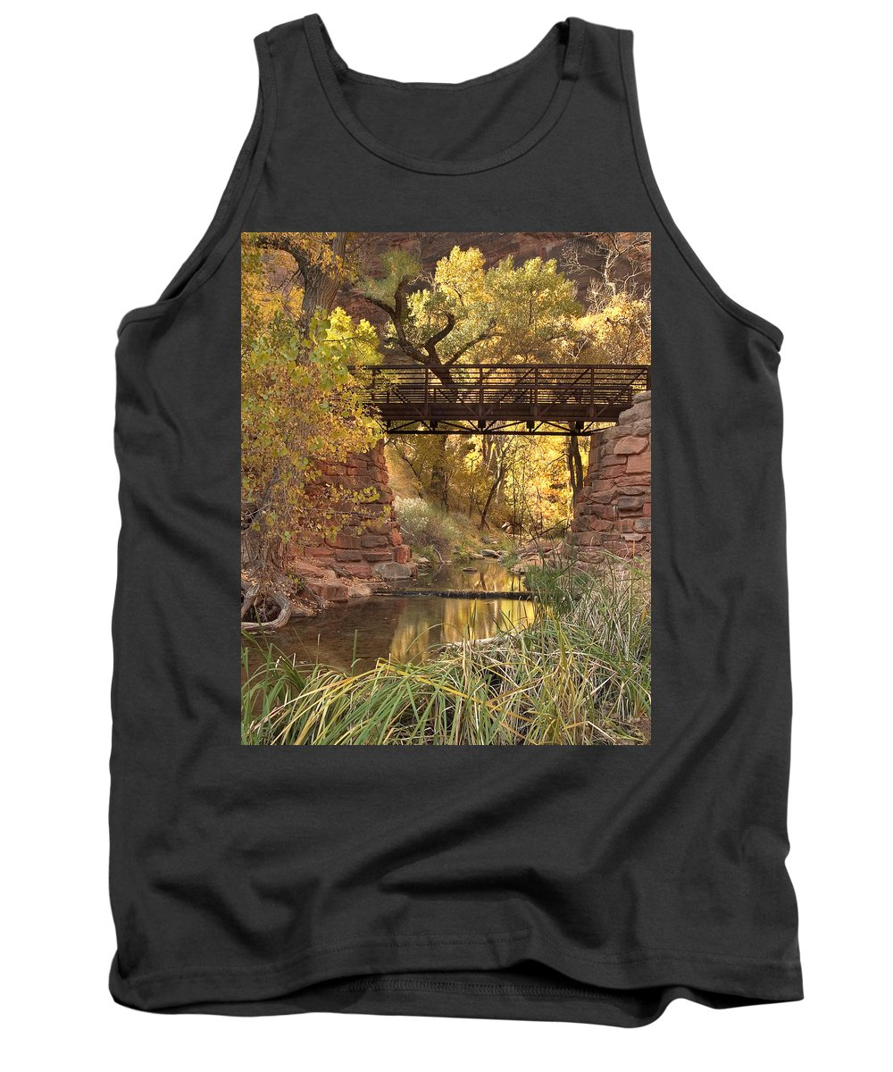 3scape Tank Top featuring the photograph Zion Bridge by Adam Romanowicz
