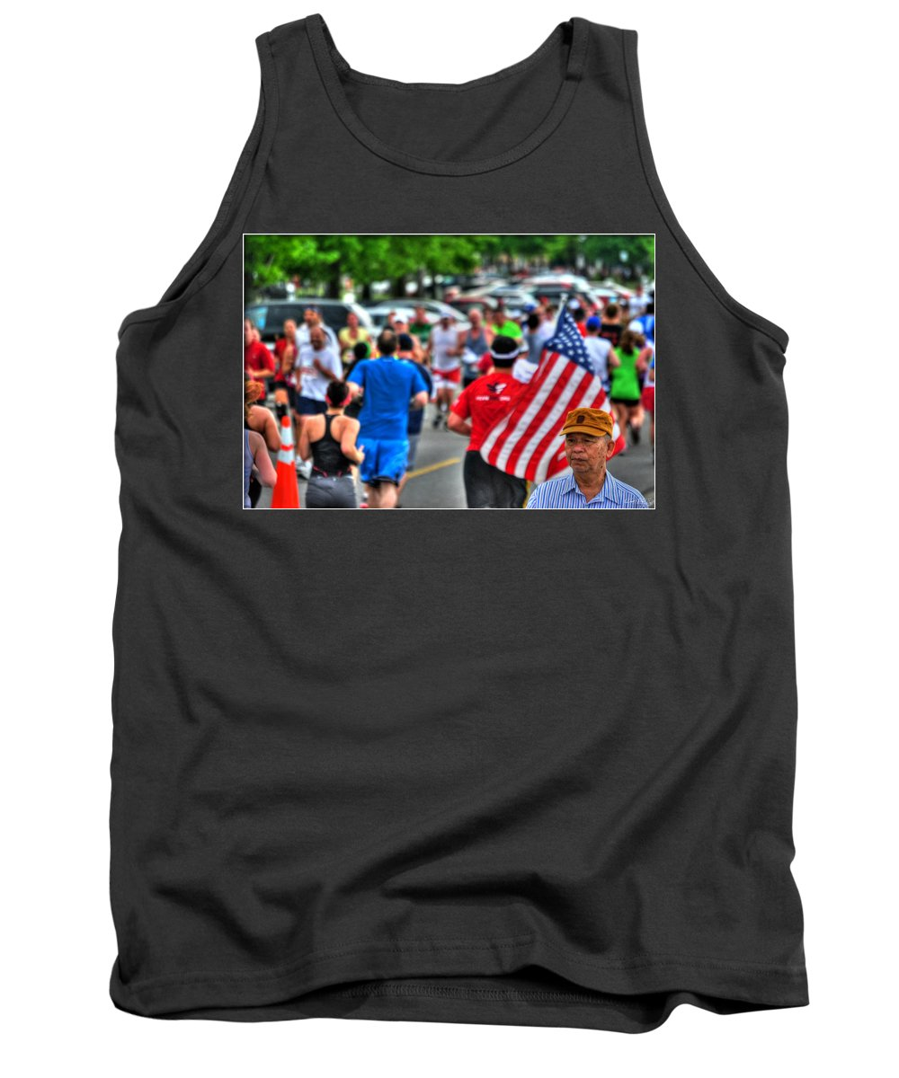 Tank Top featuring the photograph 0001 Buffalo Marathon Series 2012 by Michael Frank Jr