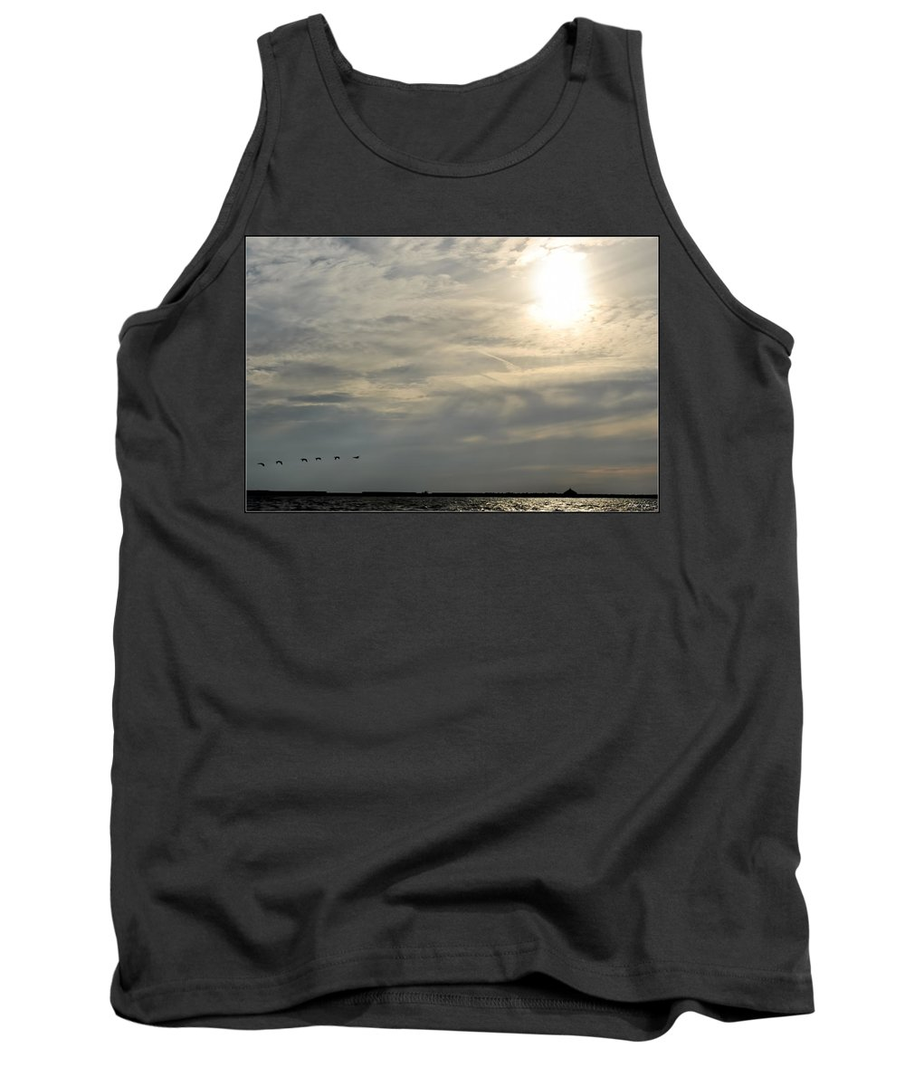 Tank Top featuring the photograph 007 When Feeling Down Pick Your Head Up To The Skies Series by Michael Frank Jr