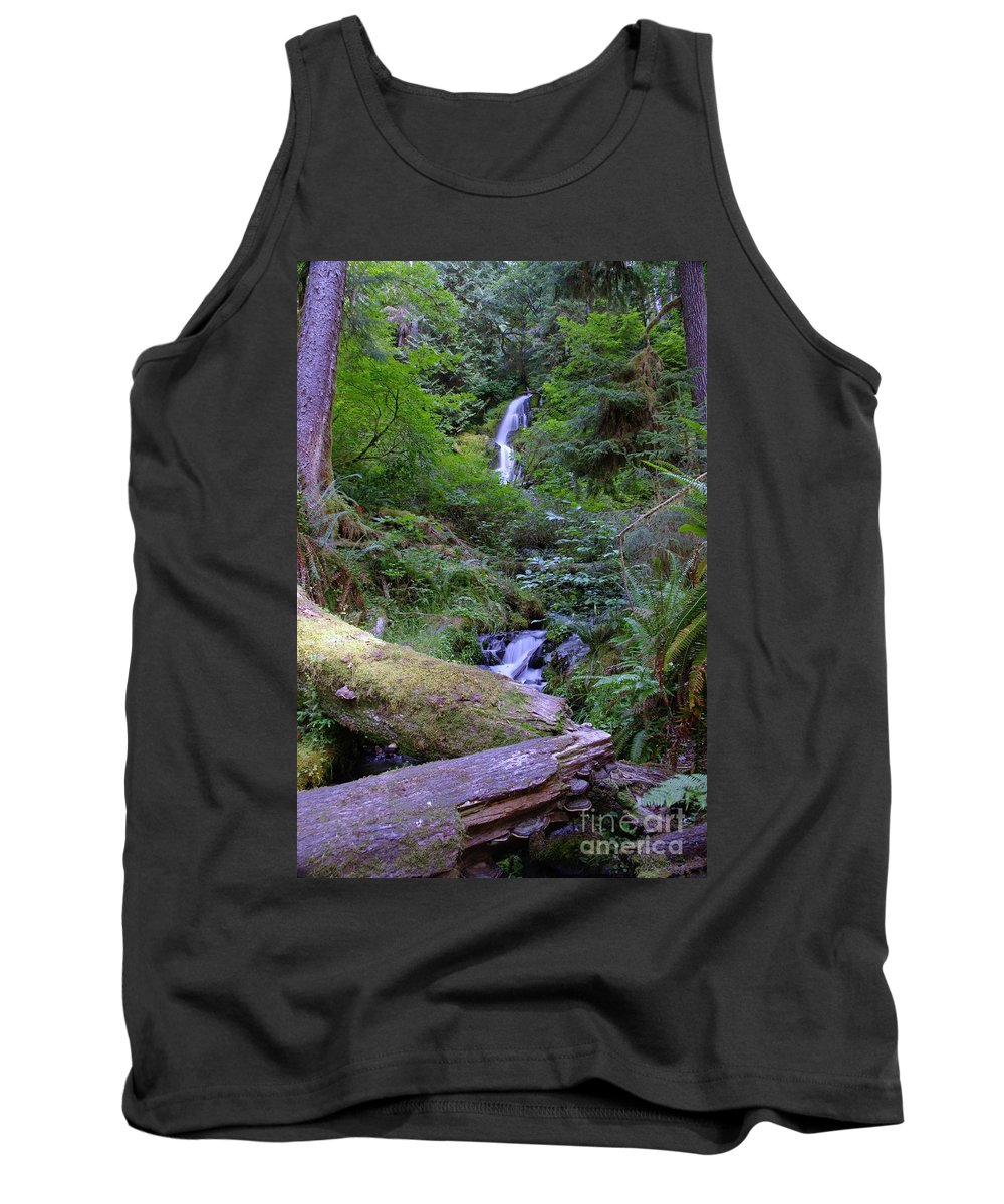 Waterfall Tank Top featuring the photograph A Small Waterfall by Jeff Swan