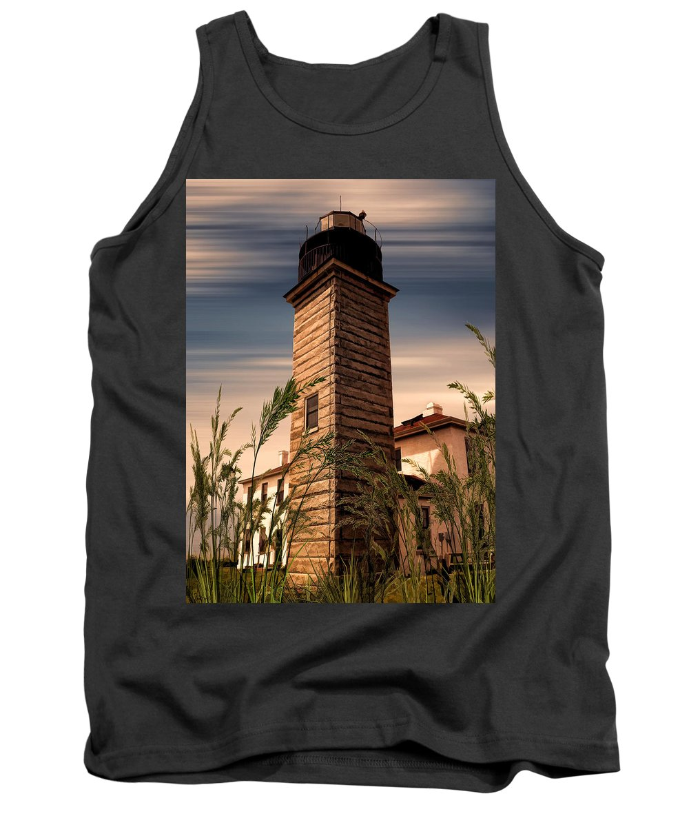 Beavertail Lighthouse Tank Top featuring the photograph Beavertail Lighthouse by Lourry Legarde