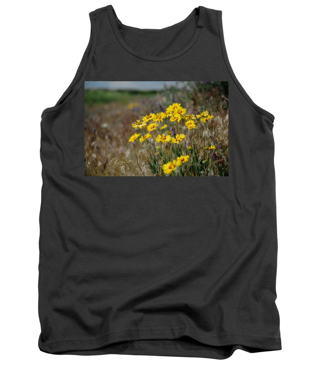 Blanket Flower Tank Top featuring the photograph Blanket Flower by One Rude Dawg Orcutt