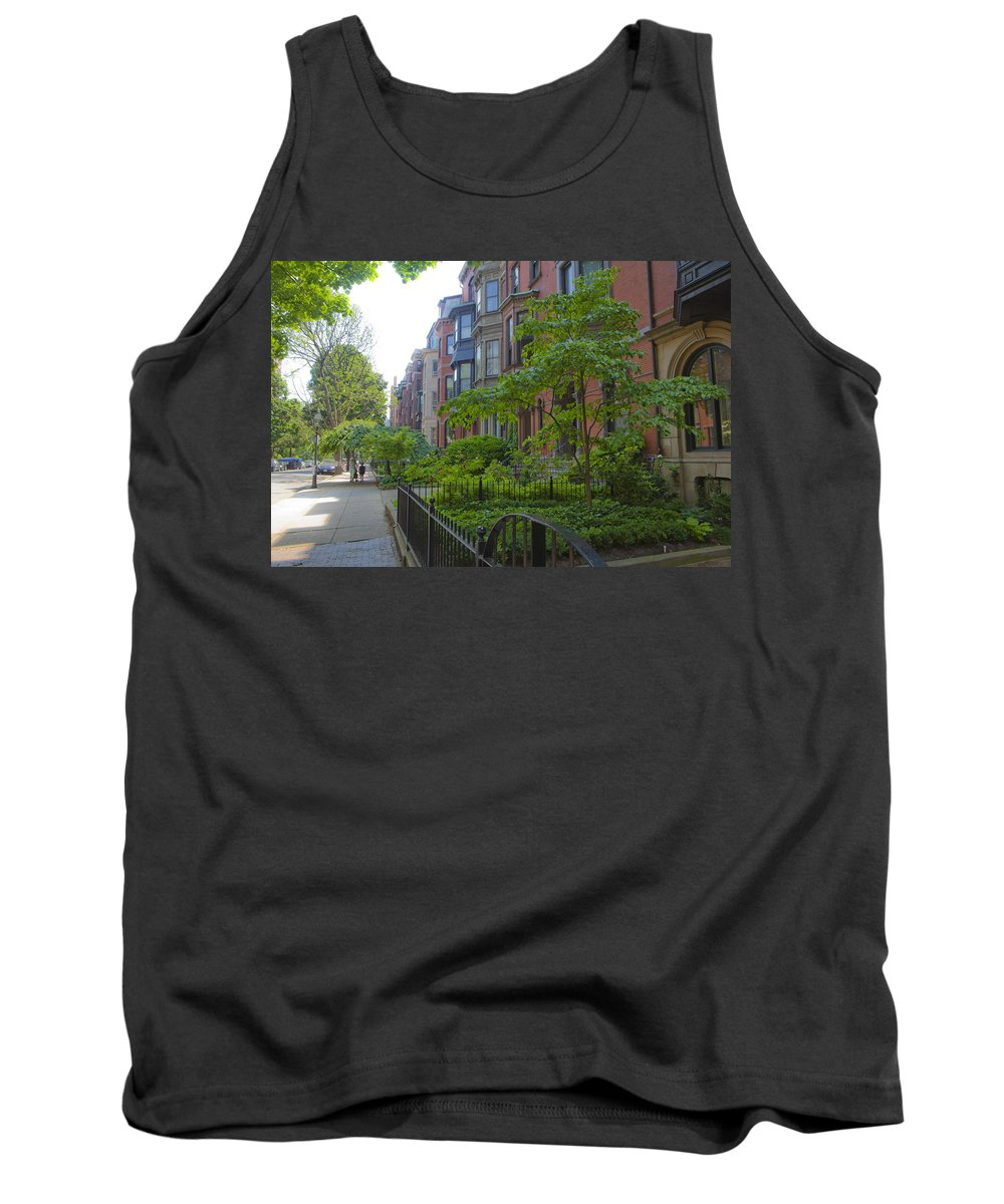 City Tank Top featuring the photograph Boston Beacon Hill Street Scenery by Jiayin Ma