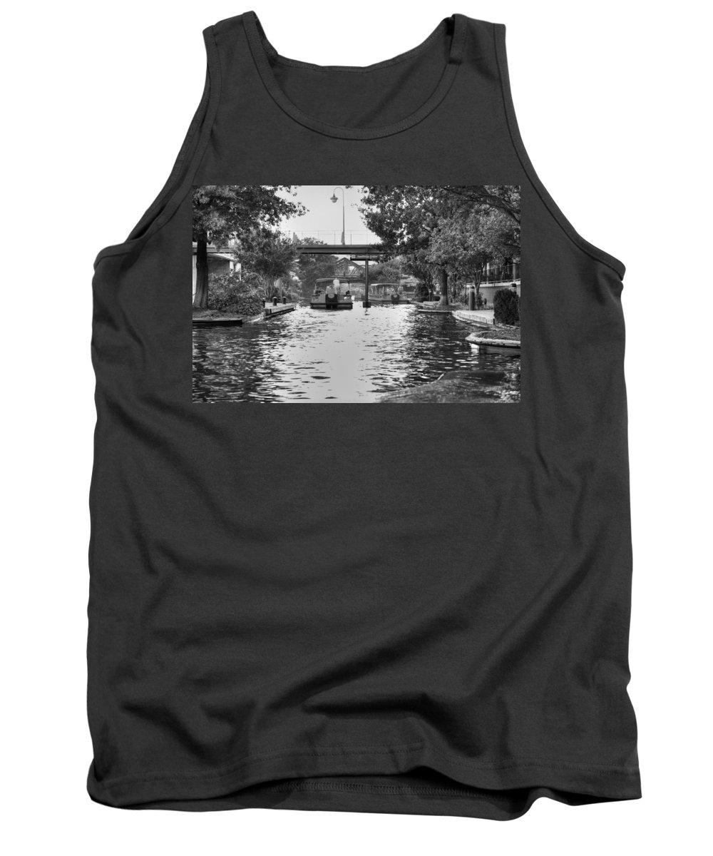 Bricktown Tank Top featuring the photograph Bricktown Canal by Ricky Barnard