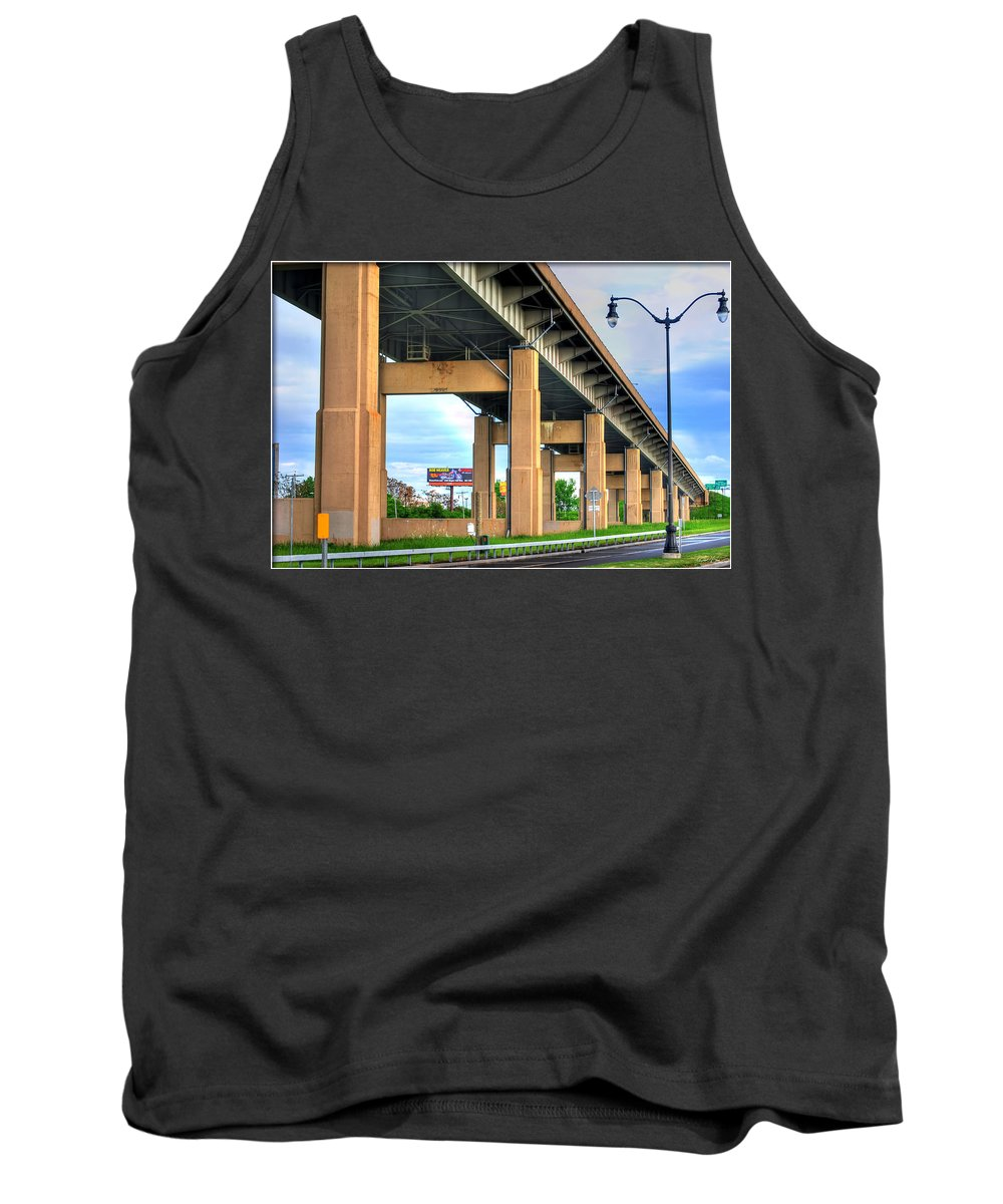 Tank Top featuring the photograph Buffalo Skyway by Michael Frank Jr