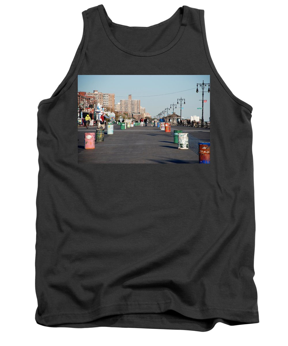 Brooklyn Tank Top featuring the photograph Coney Island Boardwalk by Rob Hans