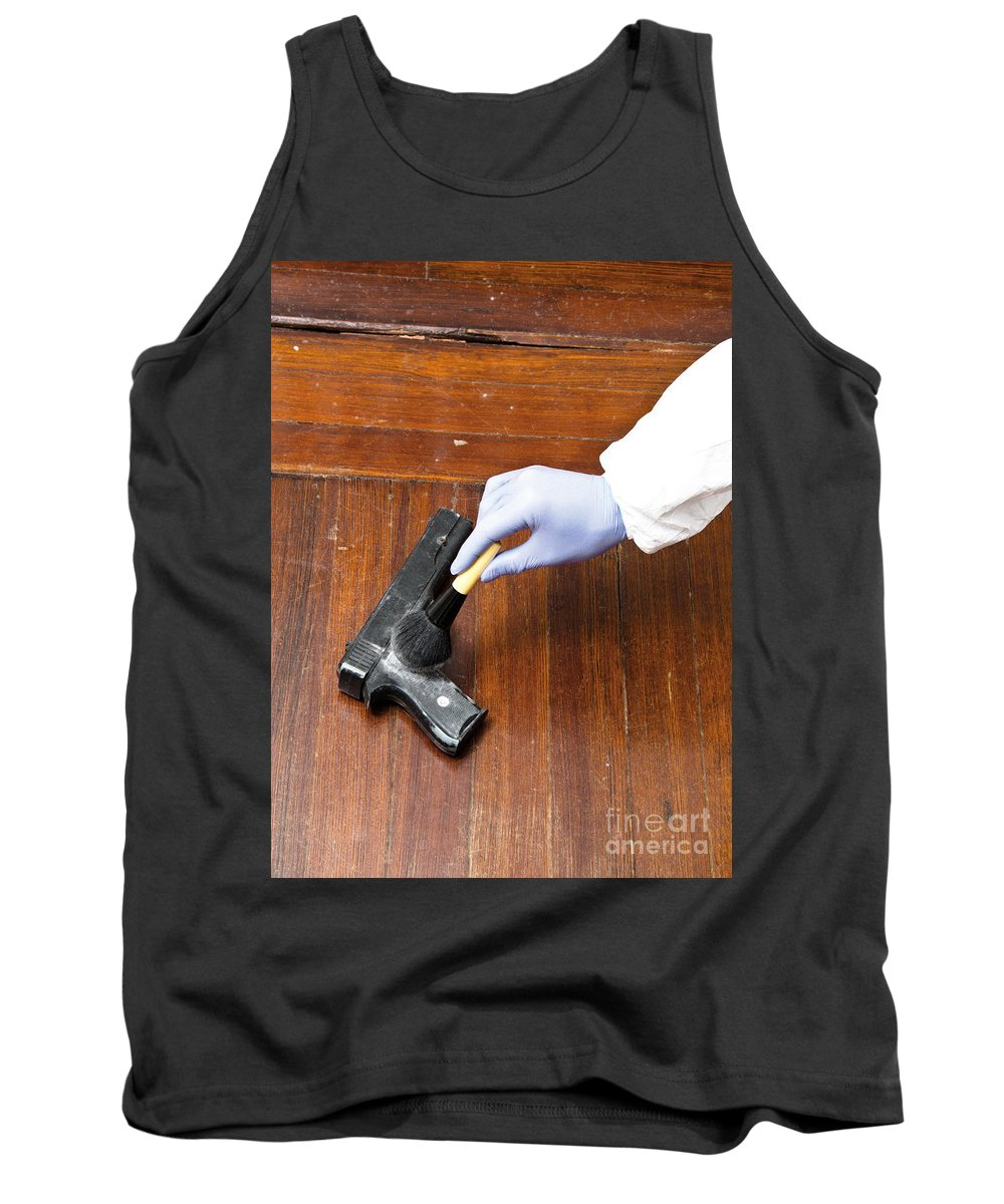 Crime Tank Top featuring the photograph Forensic Evidence by Photo Researchers, Inc.