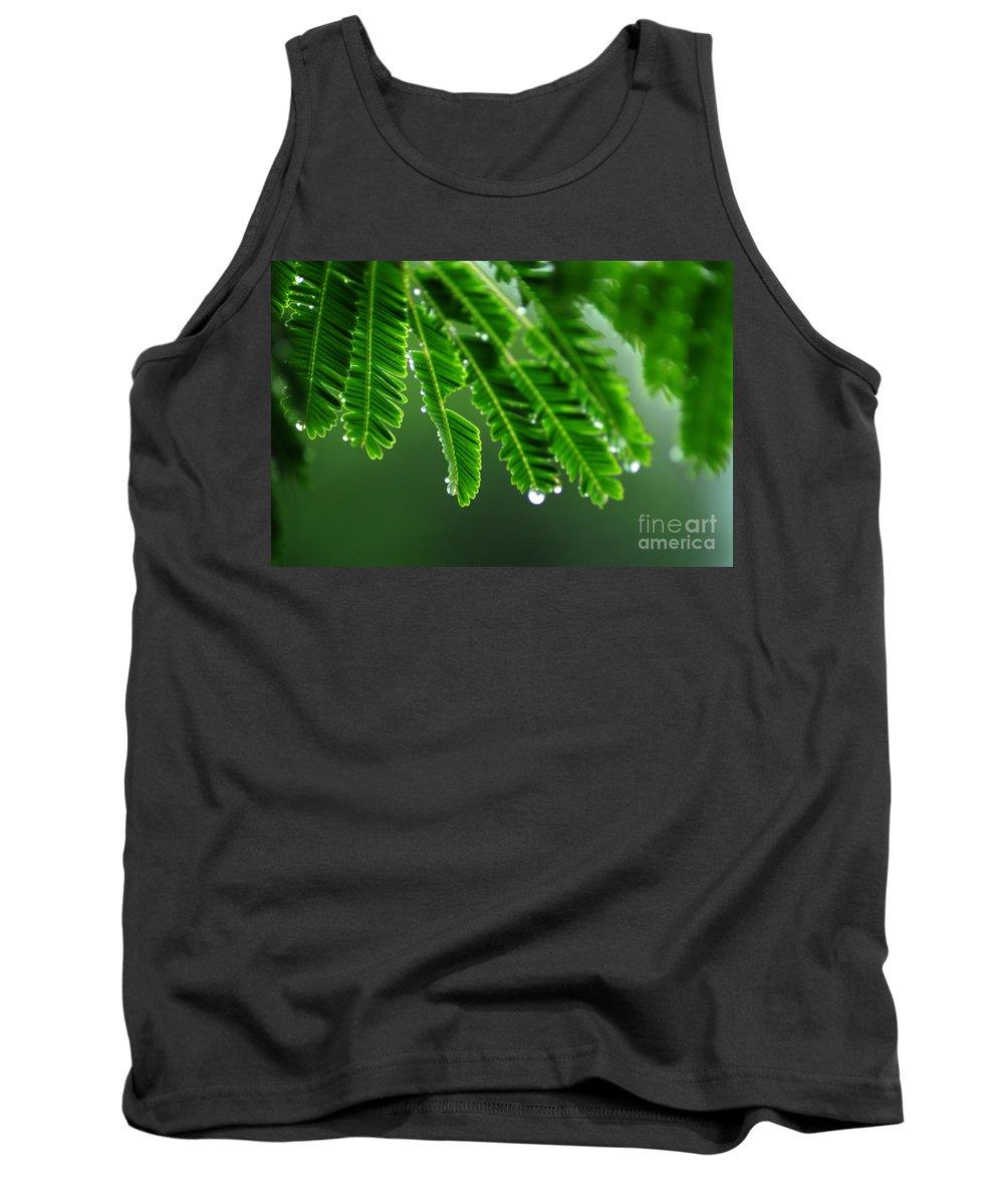 Green Tank Top featuring the photograph Fresh by Dattaram Gawade