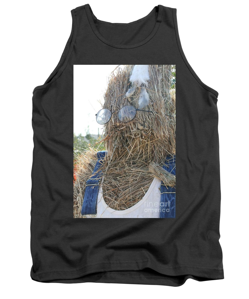 Outdoors Tank Top featuring the photograph Hay Man by Susan Herber