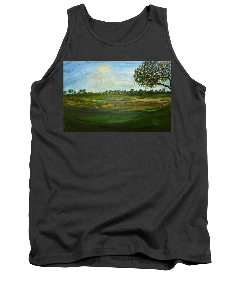 Whimsical Scene Tank Top featuring the painting I Heart Pi by Sara Credito