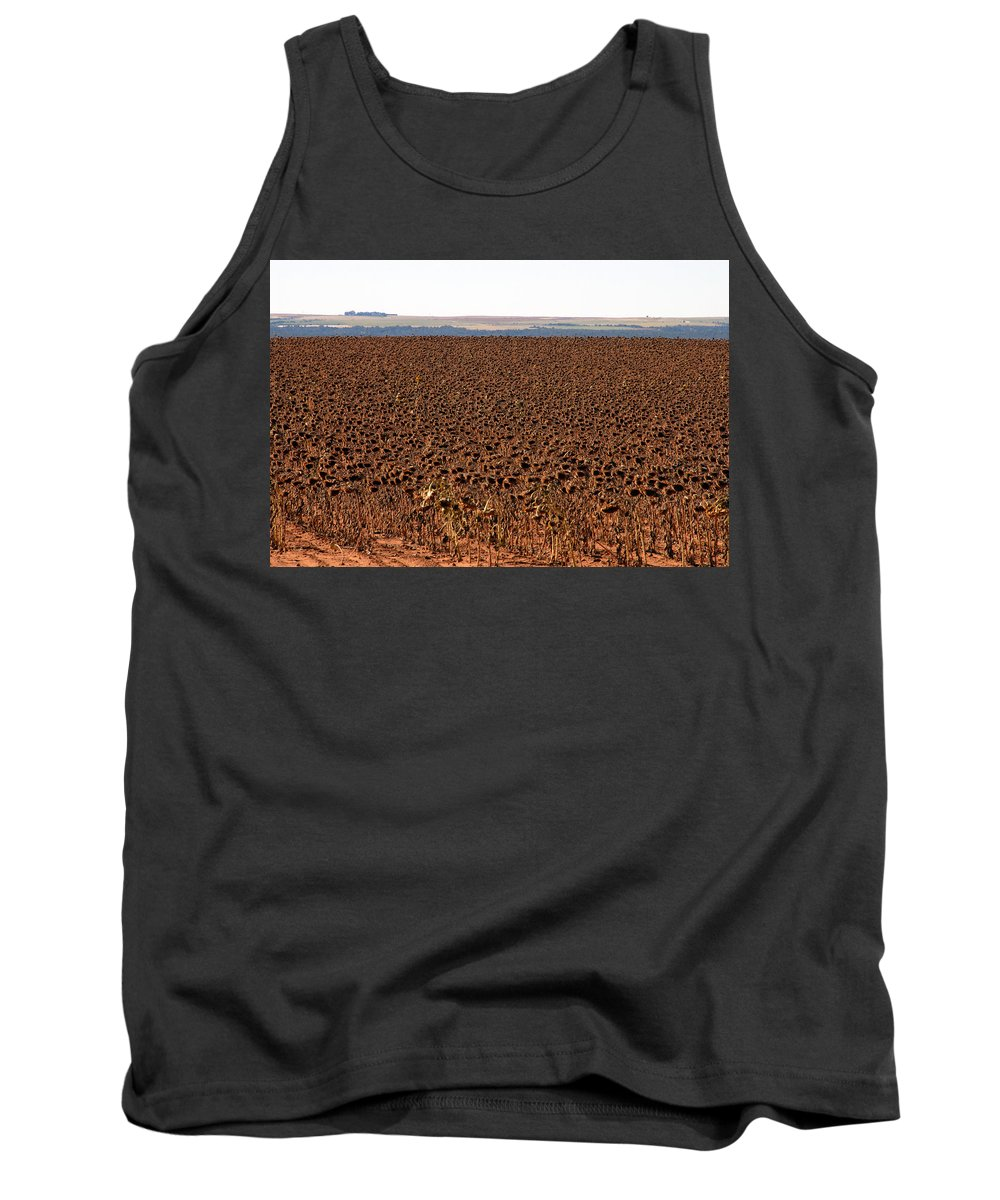 Fine Art Photography Tank Top featuring the photograph March Of The Sunflowers by David Lee Thompson
