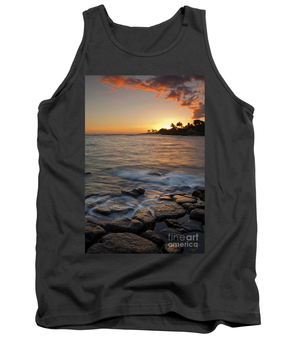 Seascape Tank Top featuring the photograph Paradise Sunset by Mike Dawson