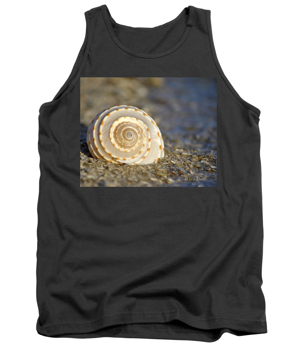 Seashells Tank Top featuring the photograph Resonance Of The Sea by Maria Nesbit