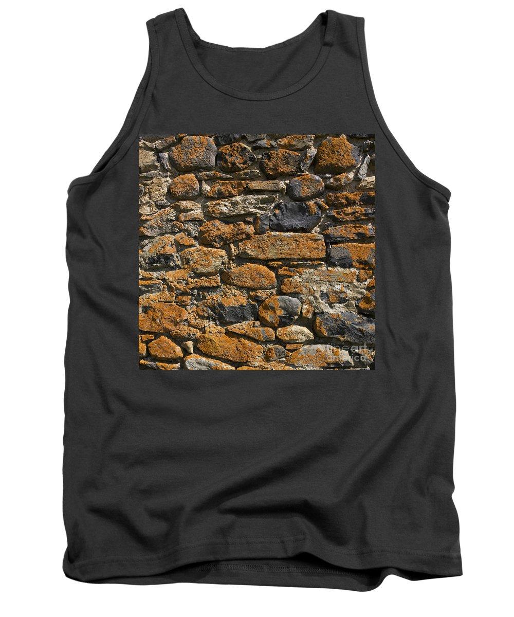 Walls Tank Top featuring the photograph Stone Wall by Bernard Jaubert