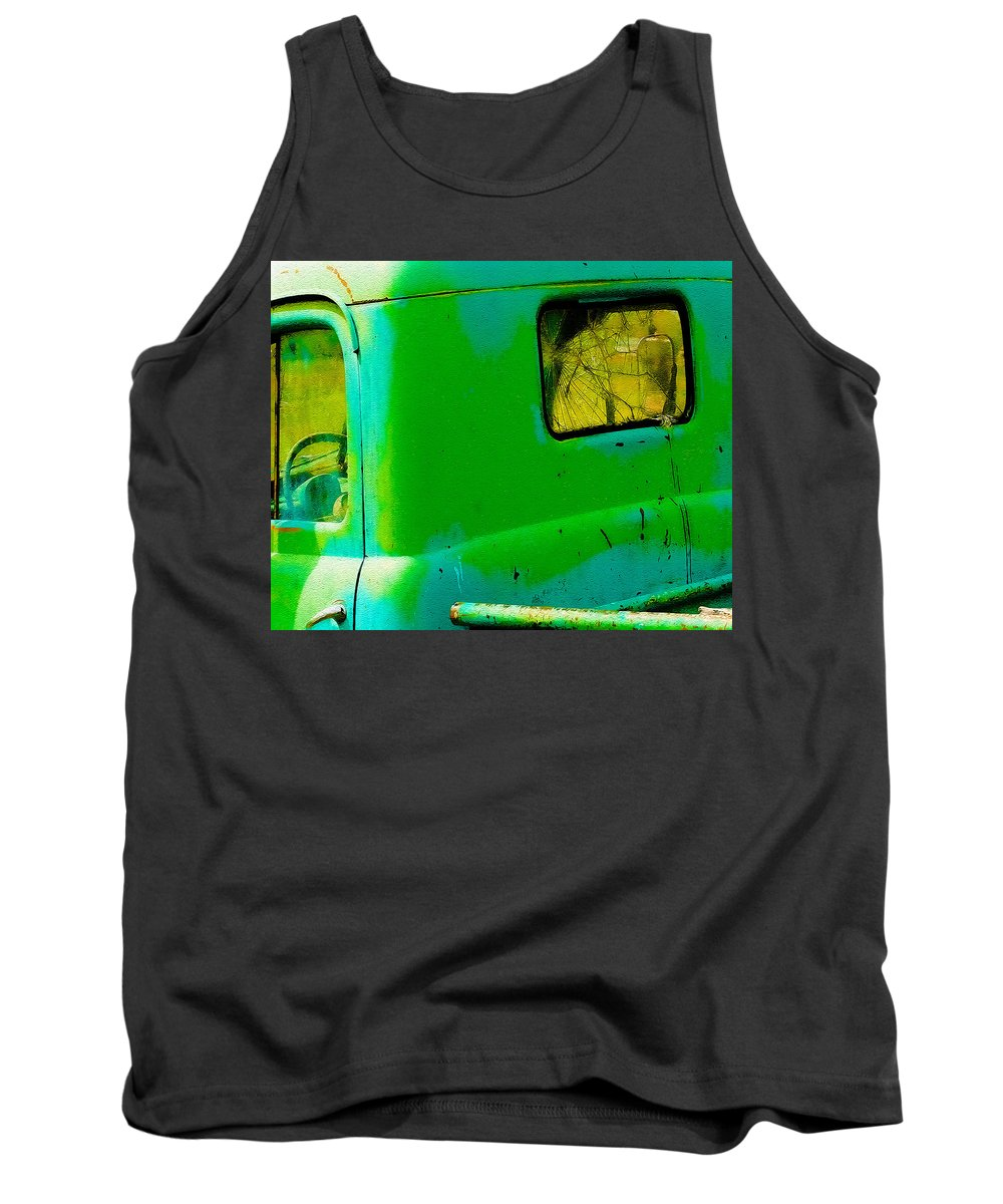 Truck Tank Top featuring the photograph The Old Dodge by Terry Fiala