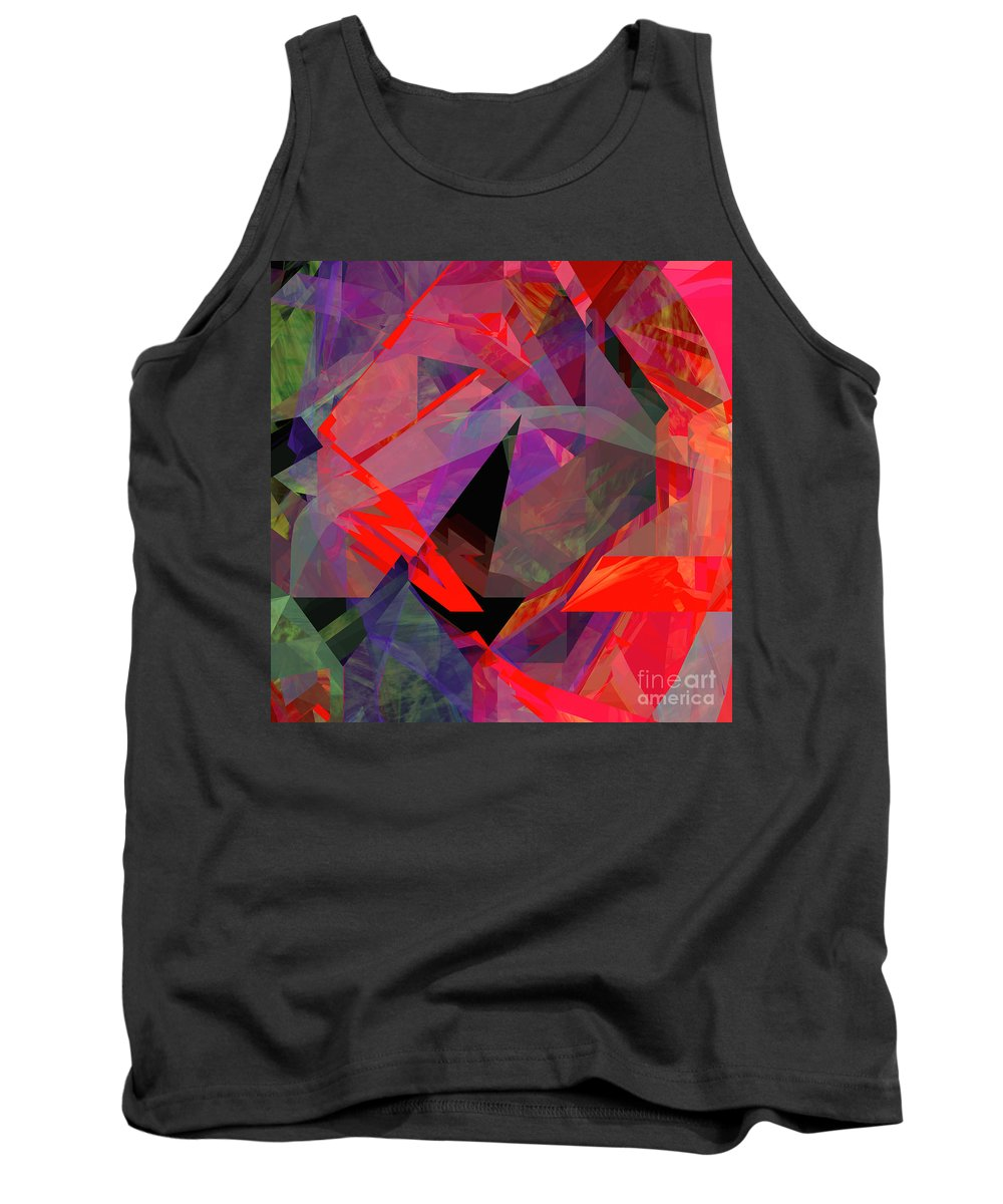 Abstract Tank Top featuring the digital art Tower Series 24 by Russell Kightley