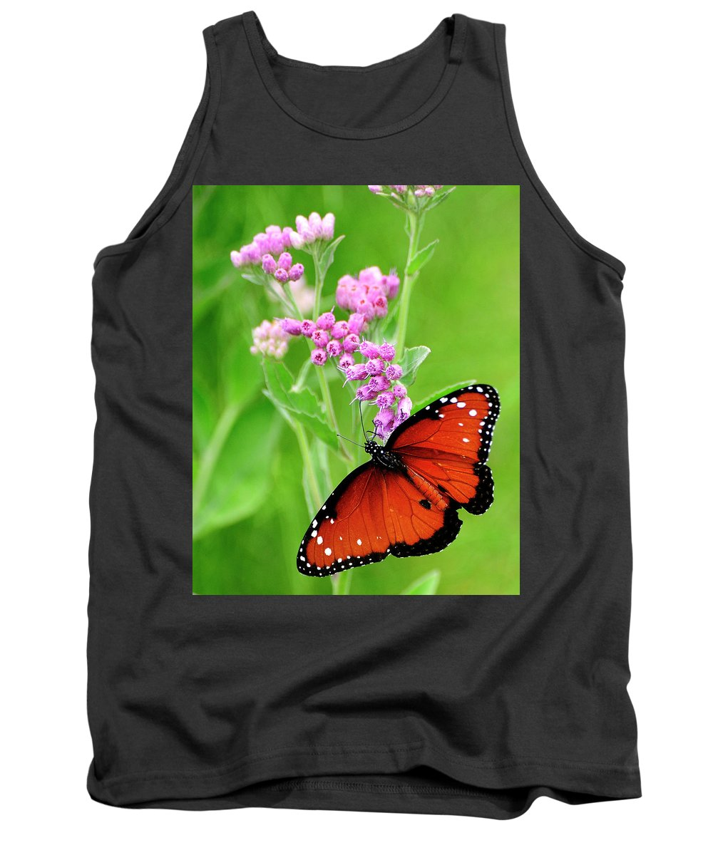 White Peacock Butterfly Tank Top featuring the photograph White Peacock Butterfly by Bill Dodsworth