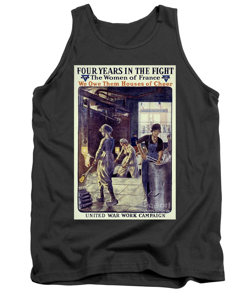 1917 Tank Top featuring the photograph World War I: U.s. Poster by Granger