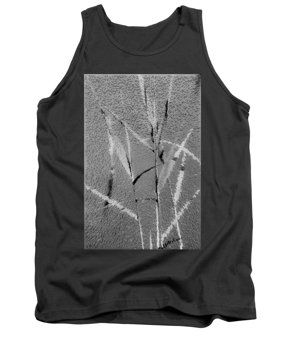 Art Tank Top featuring the digital art Water Reed Digital Art by David Pyatt
