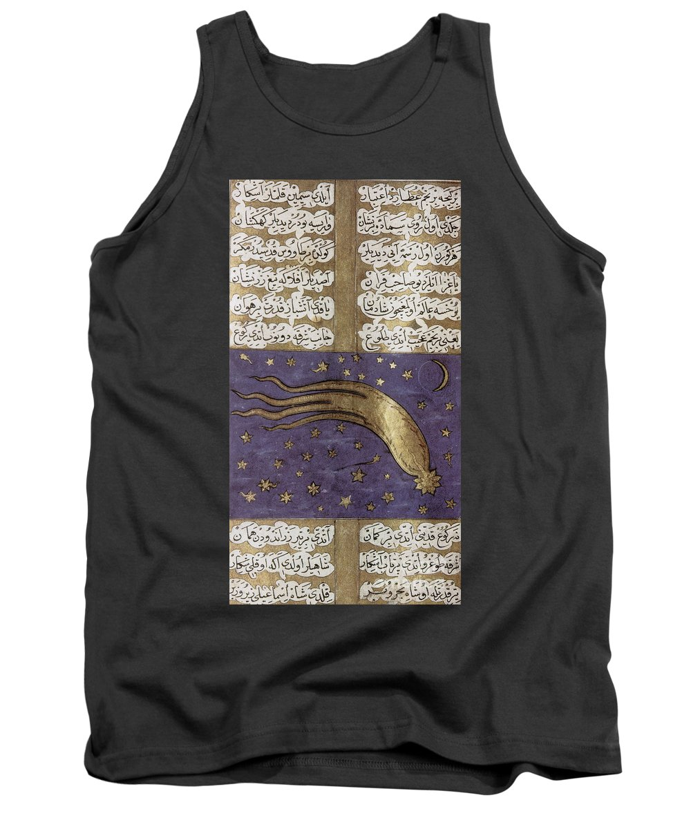 Great Comet Of 1577 Tank Top featuring the photograph 1577 Comet In Turkish Manuscript by Science Source