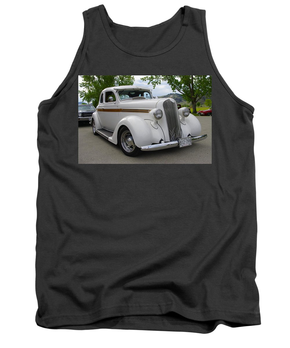 1936 Tank Top featuring the photograph 1936 Plymouth by John Greaves