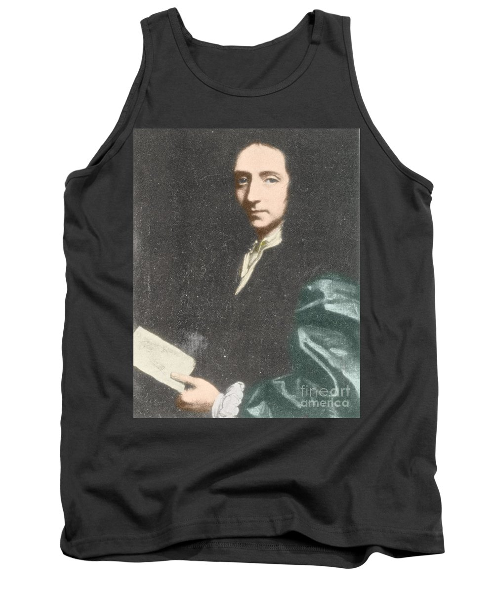 Science Tank Top featuring the photograph Edmond Halley, English Polymath by Science Source