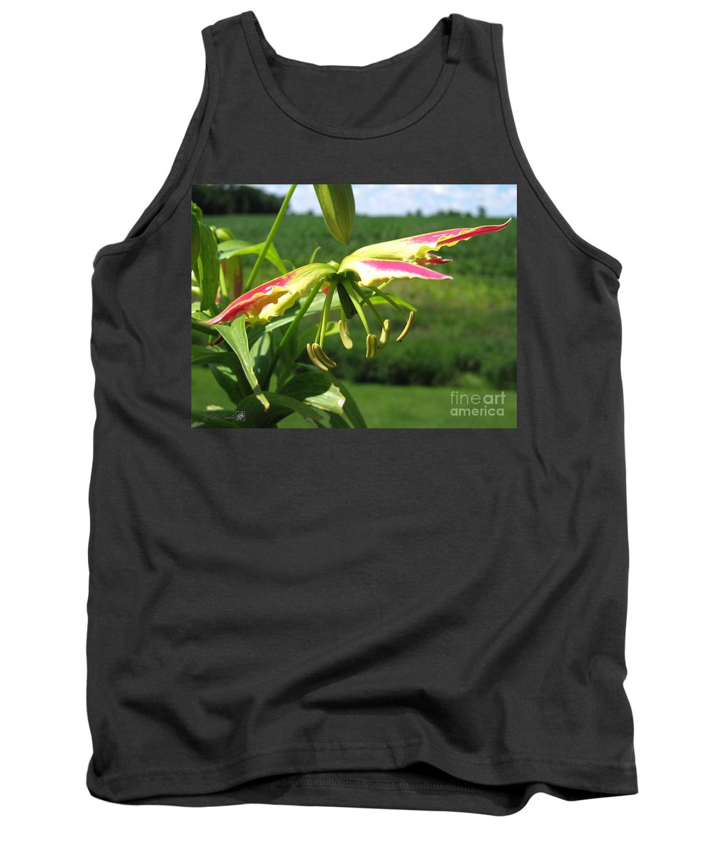 Gloriosa Tank Top featuring the photograph Gloriosa Named Rothschildiana by J McCombie