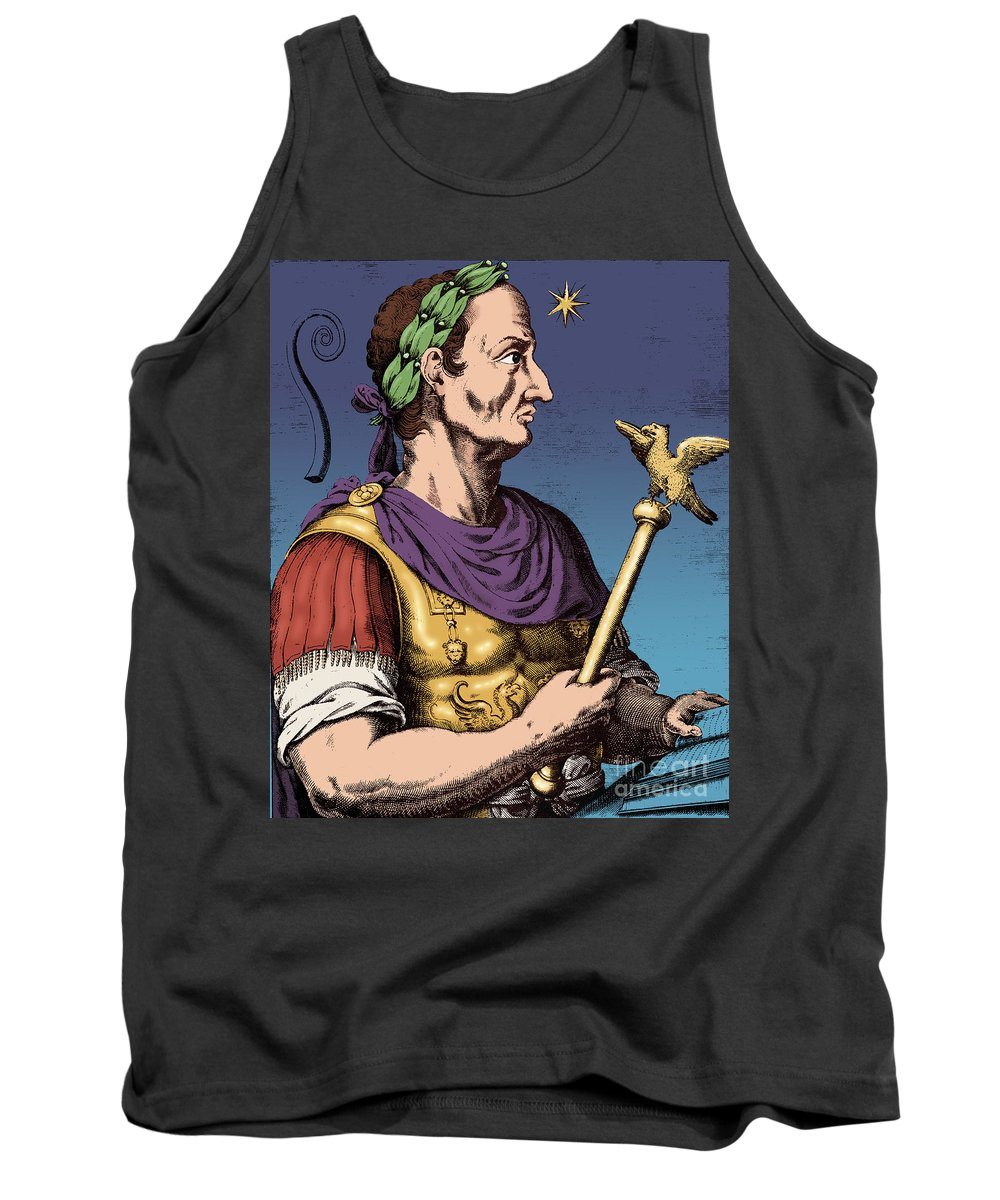 Gaius Julius Caesar Tank Top featuring the photograph Julius Caesar, Roman General by Photo Researchers