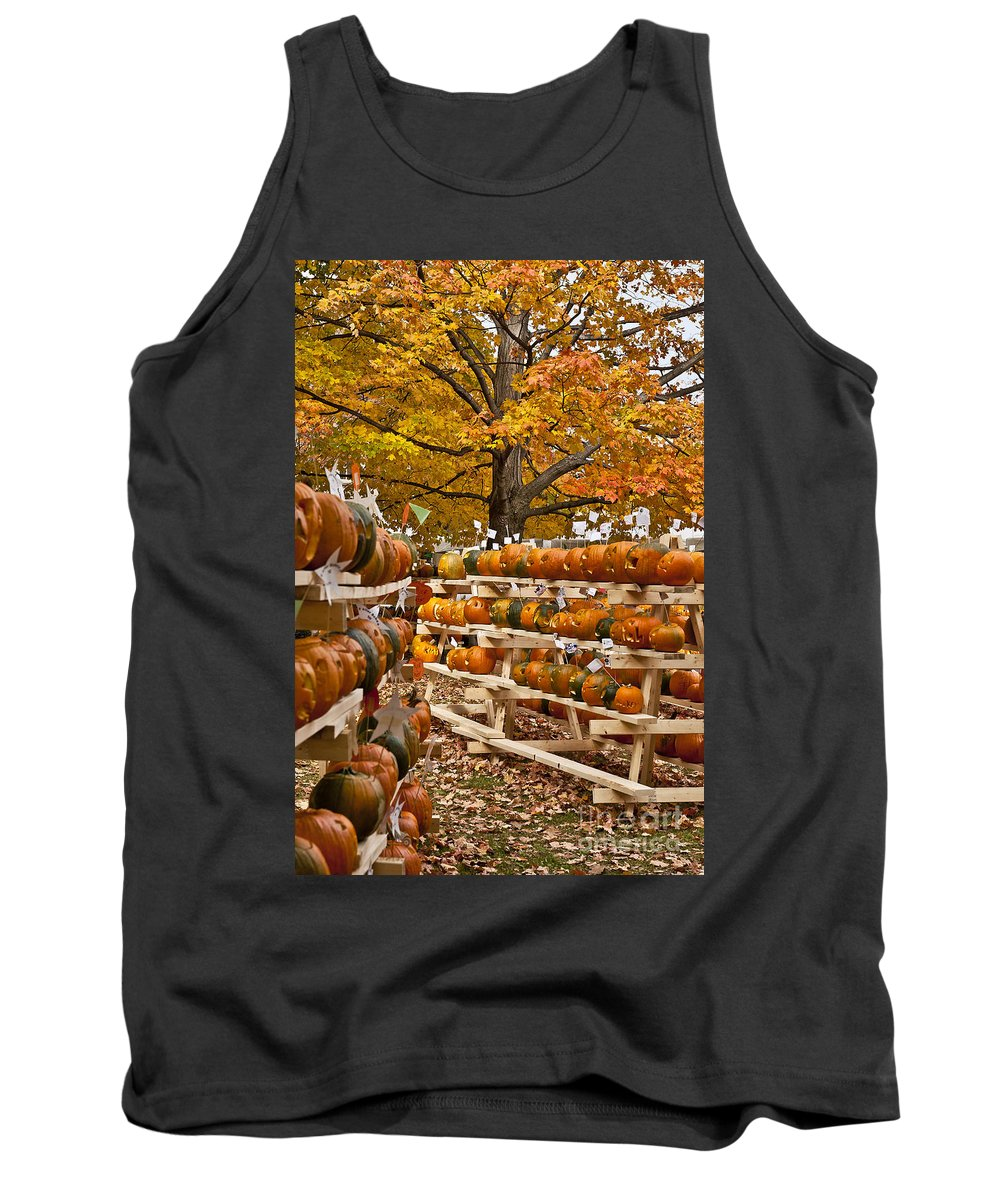 Cheshire County Tank Top featuring the photograph Pumpkin Festival by John Greim