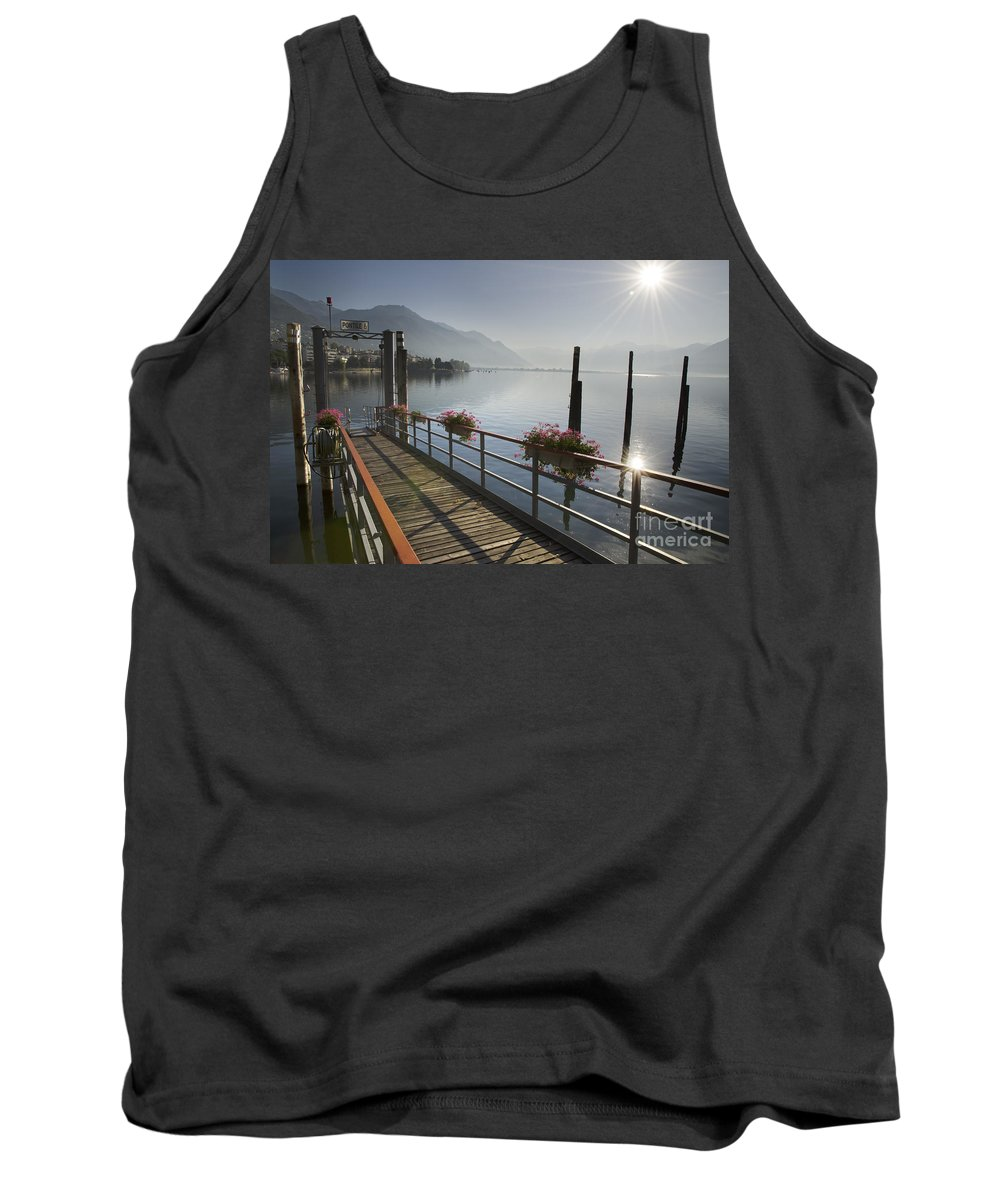 Pier Tank Top featuring the photograph Small Port by Mats Silvan