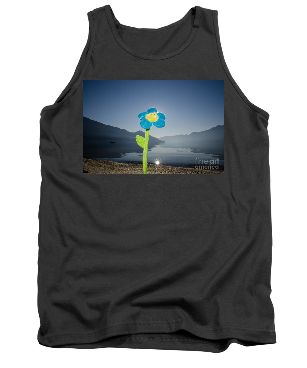 Smile Flower Tank Top featuring the photograph Smile Flower by Mats Silvan