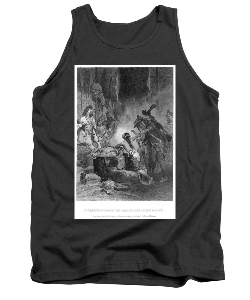 1607 Tank Top featuring the photograph Pocahontas (1595?-1617) by Granger