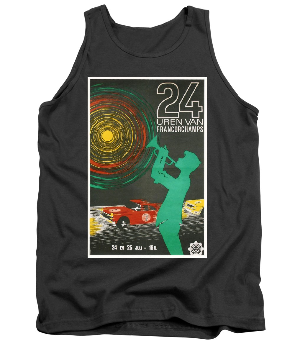 24 Hours Of Spa Francorchamps Tank Top featuring the digital art 24 Hours Of Spa - Francorchamps by Georgia Fowler