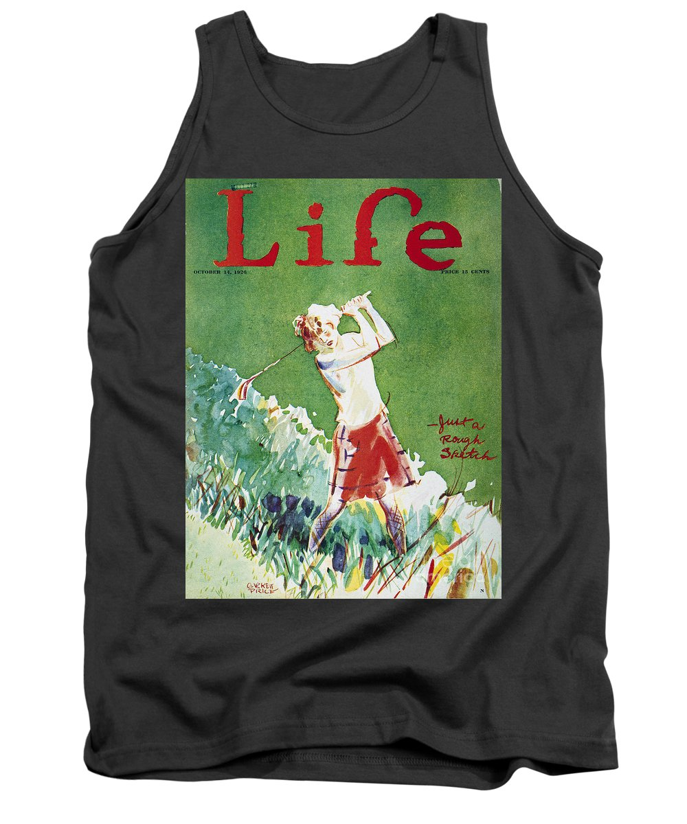 1926 Tank Top featuring the photograph Golfing: Magazine Cover by Granger