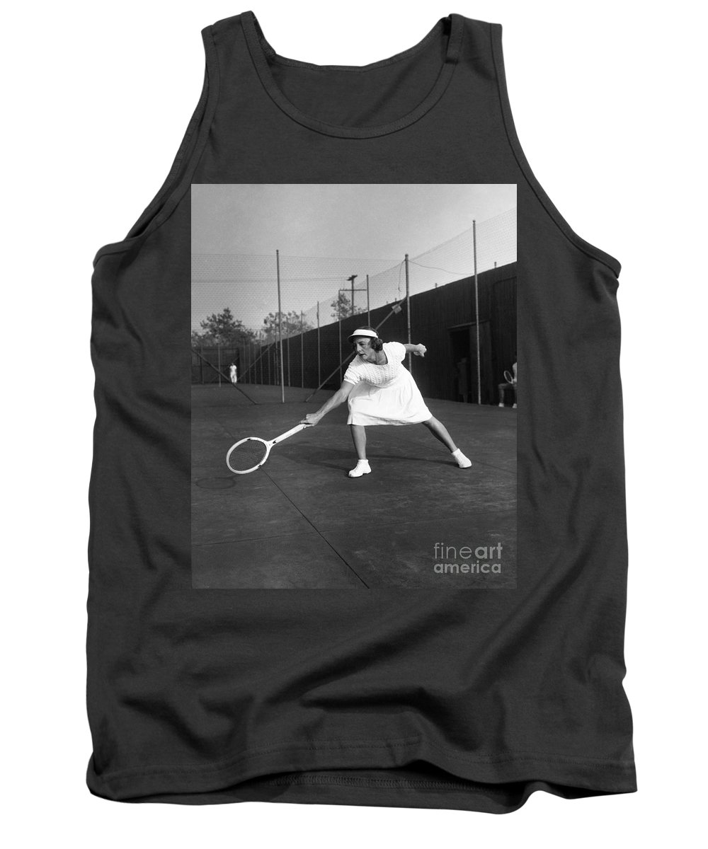 1945 Tank Top featuring the photograph Helen Newington Wills by Granger