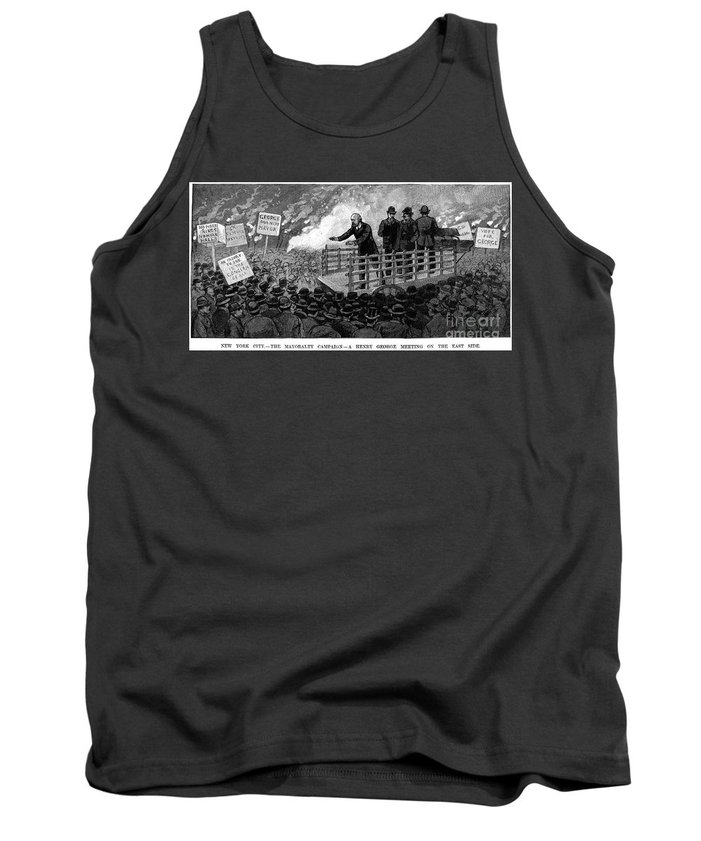 1886 Tank Top featuring the photograph Henry George (1839-1897) by Granger