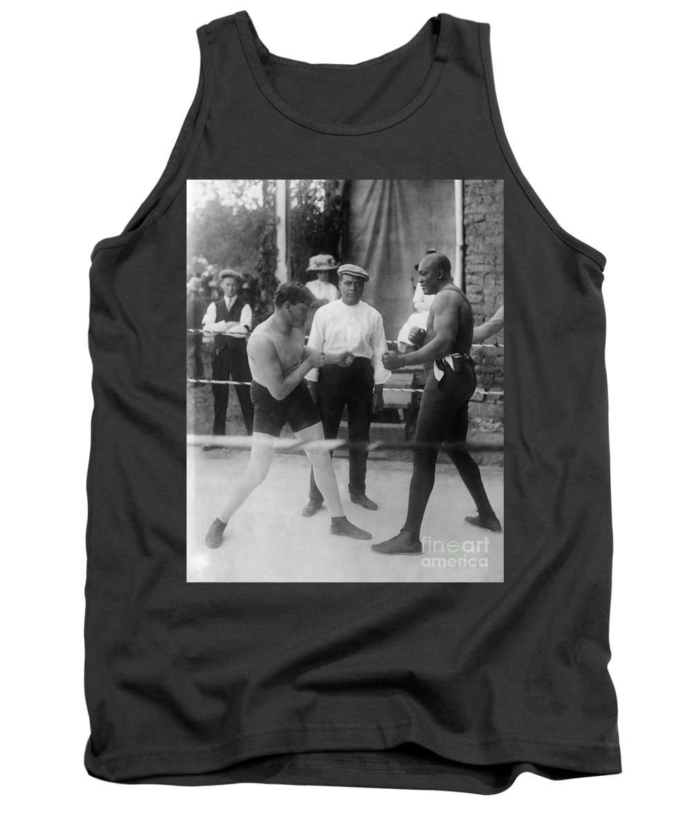 1914 Tank Top featuring the photograph Jack Johnson (1878-1946) by Granger