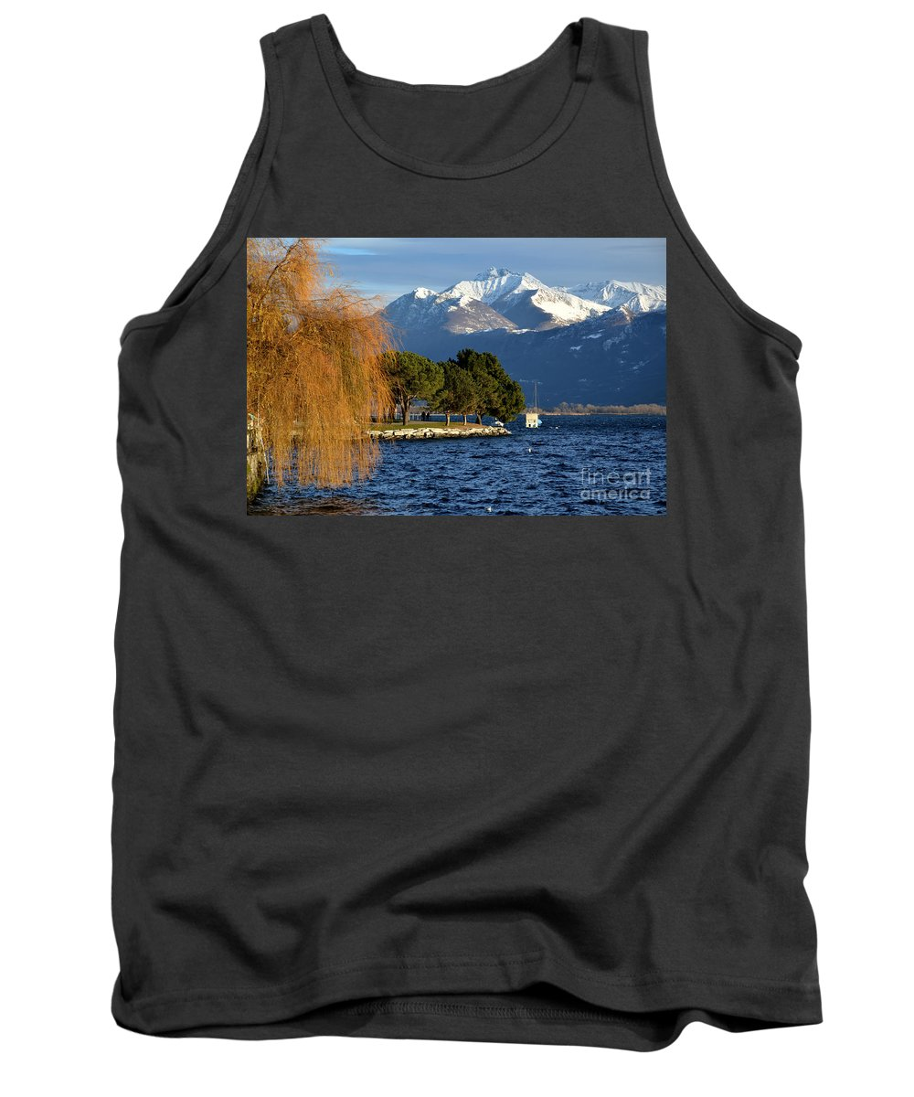 Lake Tank Top featuring the photograph Snow-capped Mountain by Mats Silvan