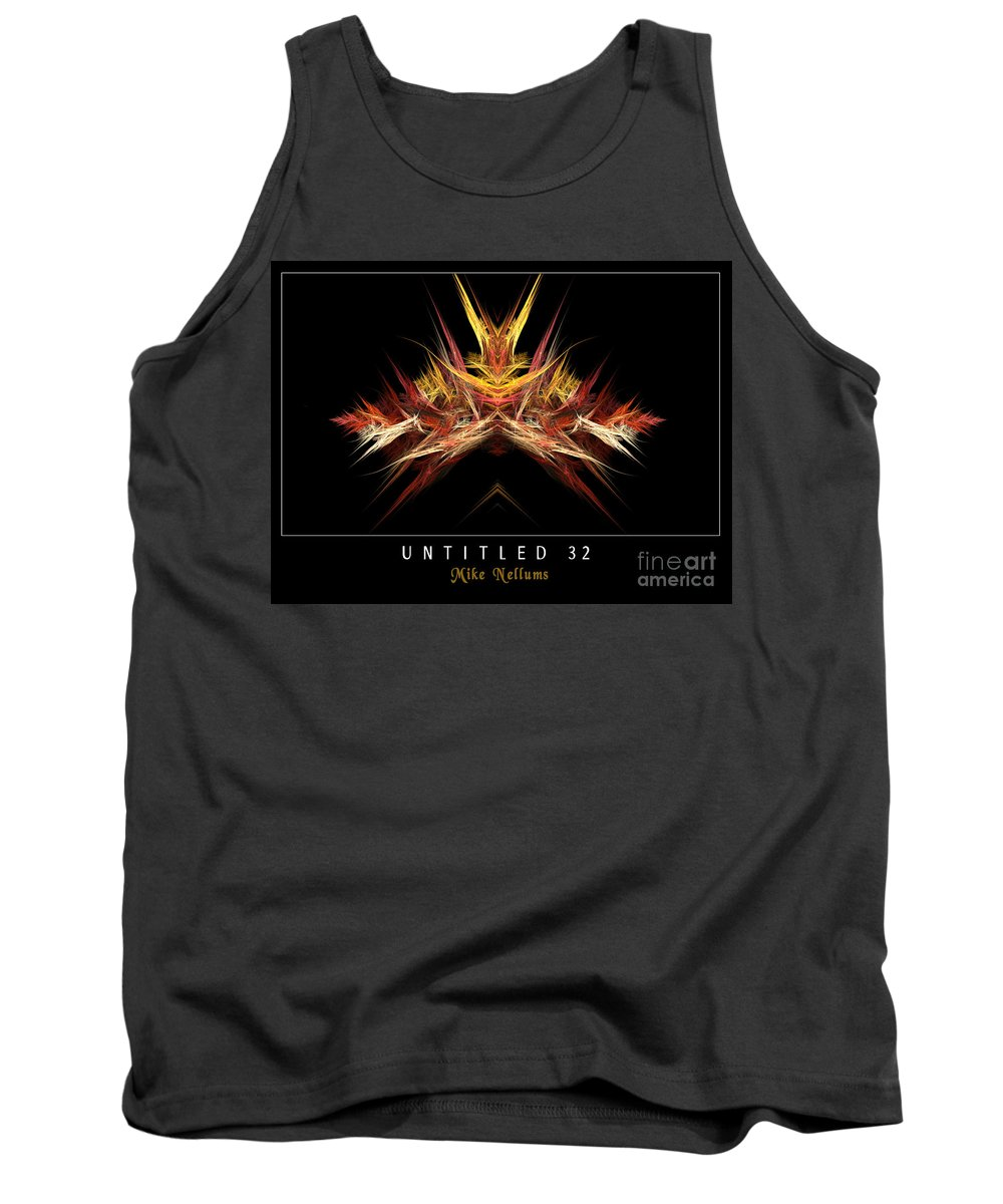 Fractal Art Tank Top featuring the photograph Untitled 32 by Mike Nellums