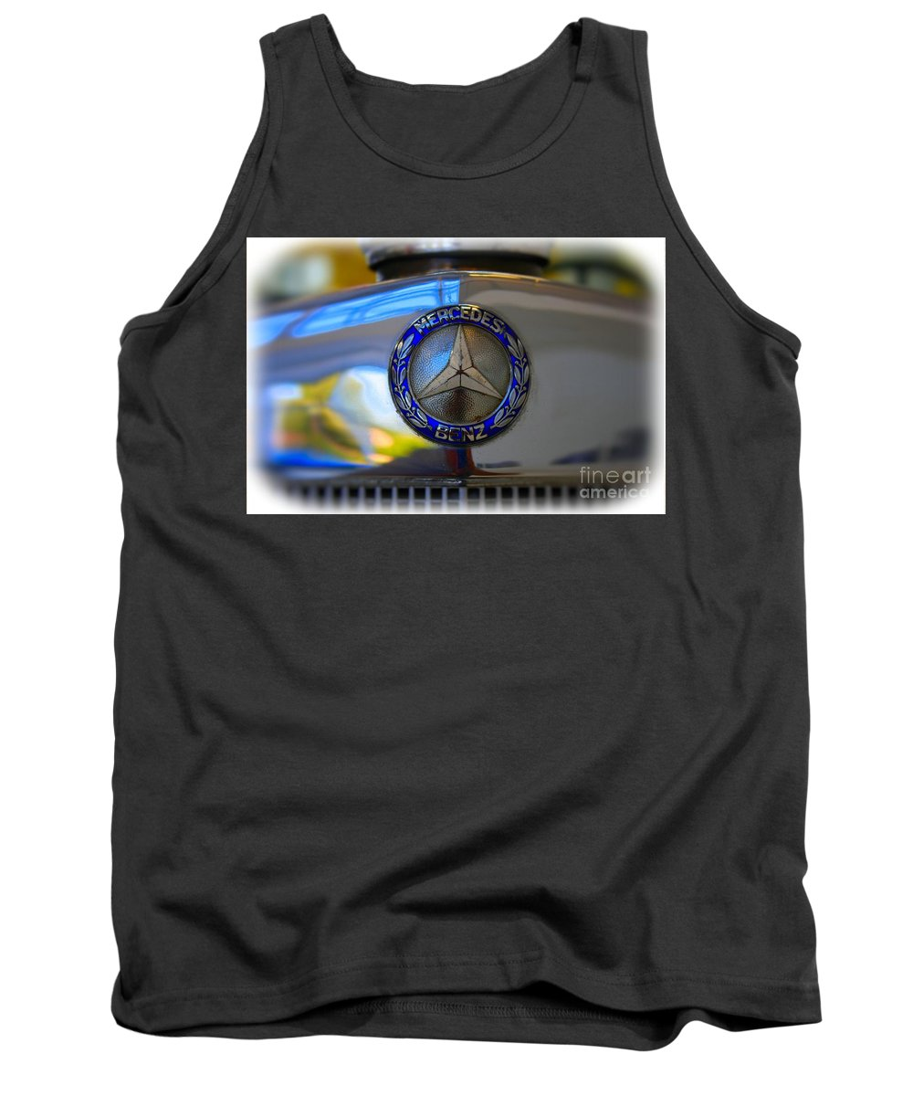 1939 Tank Top featuring the photograph 39 Mercedes-benz Logo by Tommy Anderson