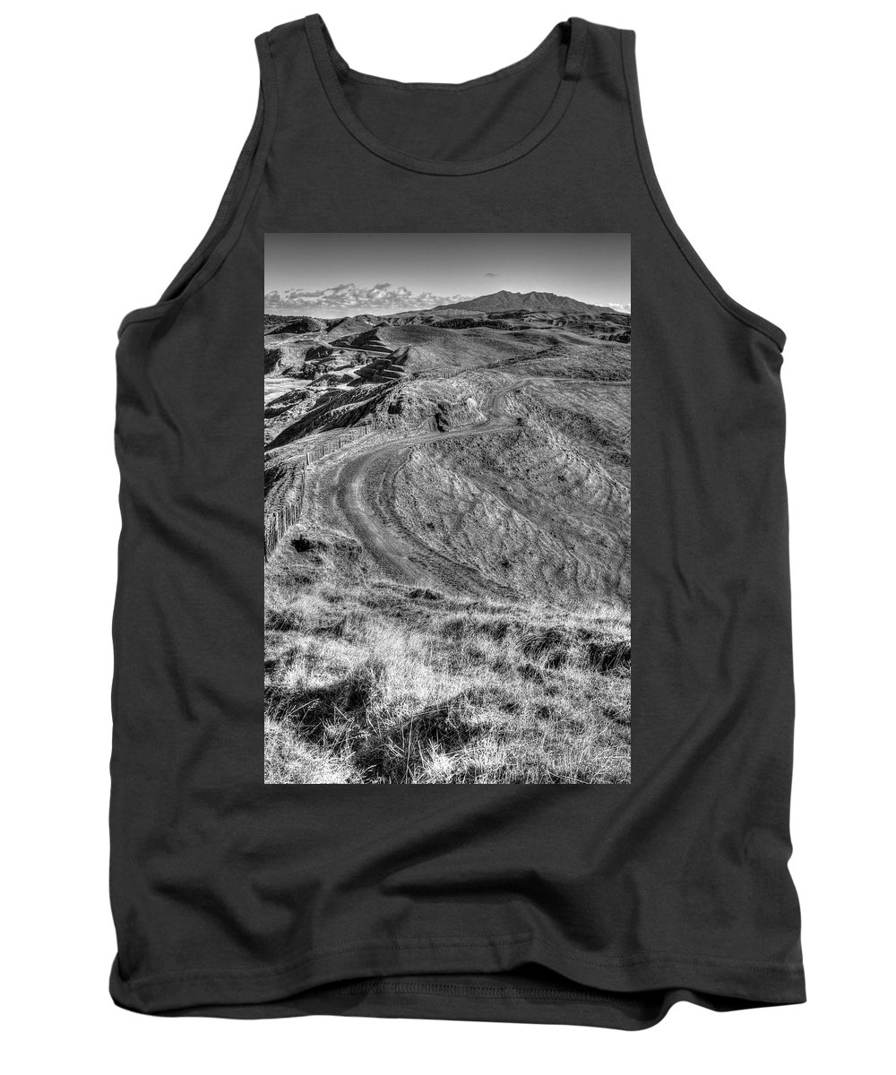 Black And White Tank Top featuring the photograph Landscape by Les Cunliffe