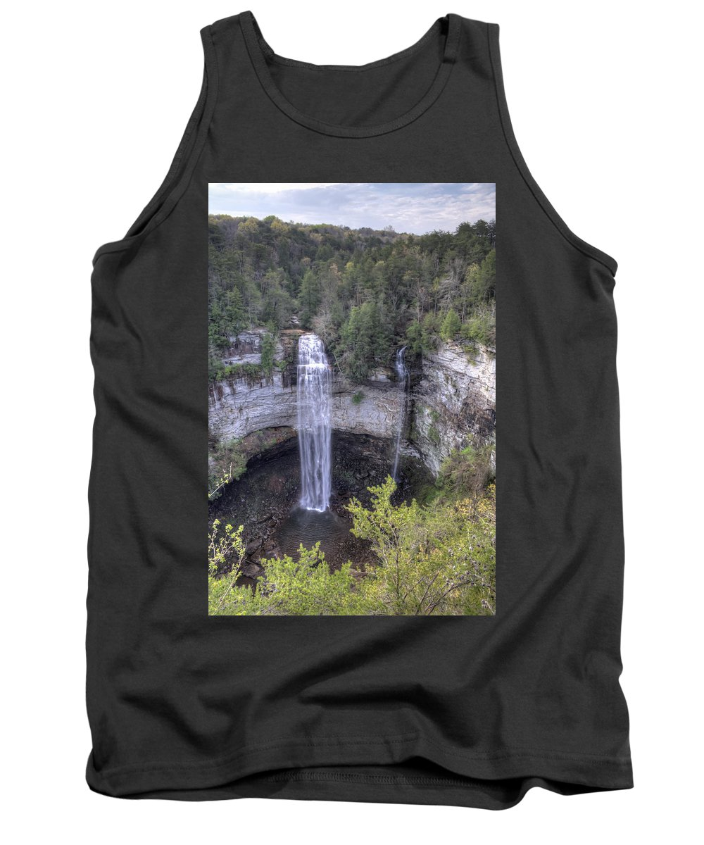Fall Creek Falls Tank Top featuring the photograph Waterfall by David Troxel