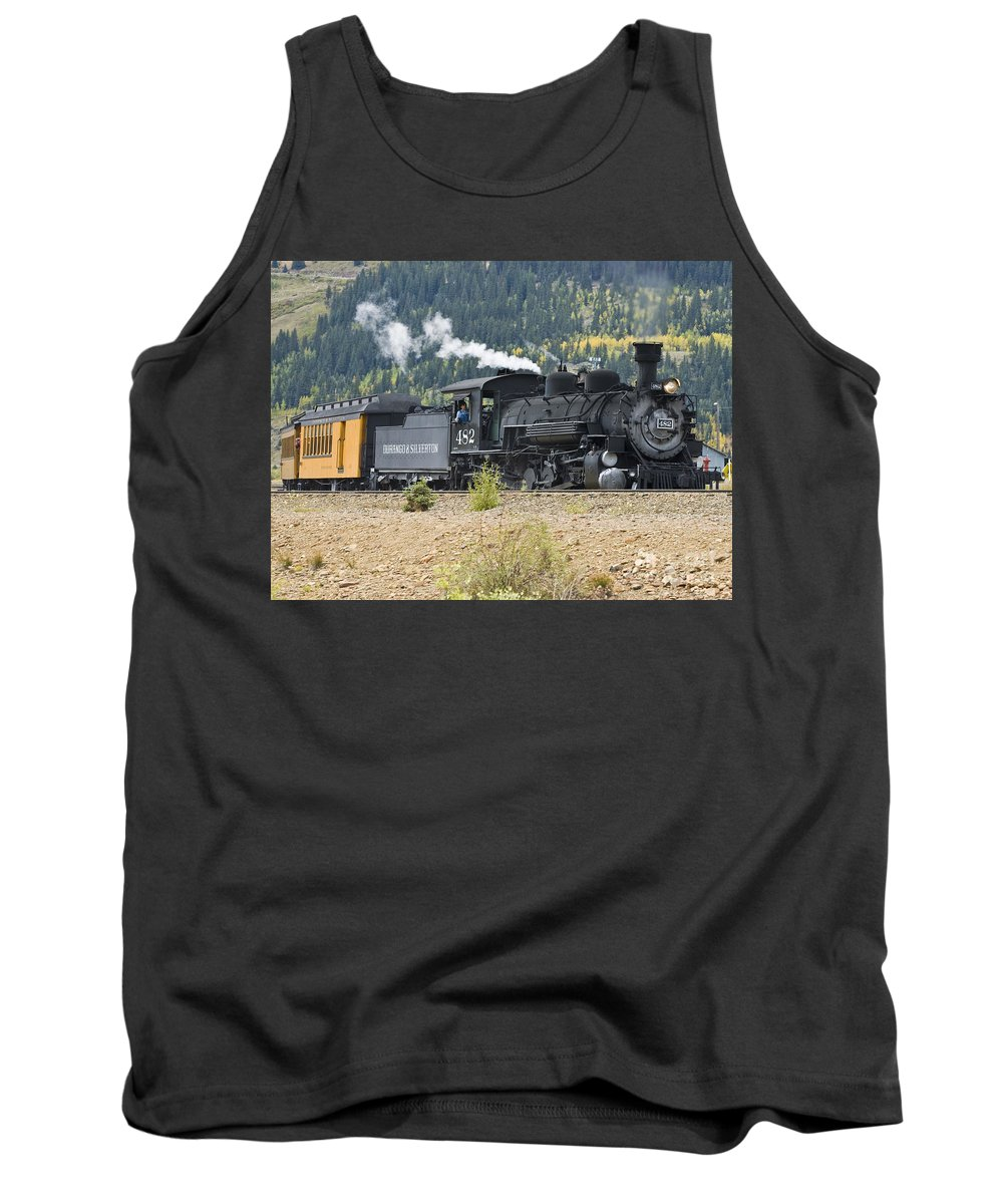 Drgw Tank Top featuring the photograph 482 Round The Curve by Tim Mulina