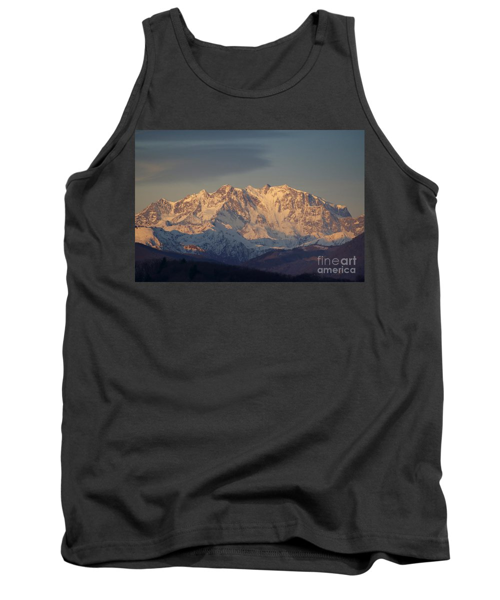 Mountains Tank Top featuring the photograph Snow-capped Mountain by Mats Silvan