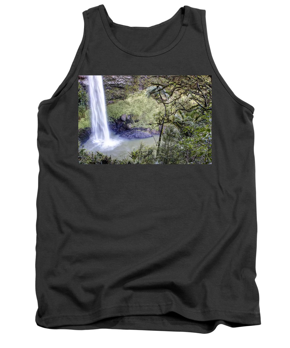 Waterfall Tank Top featuring the photograph Waterfall by Les Cunliffe