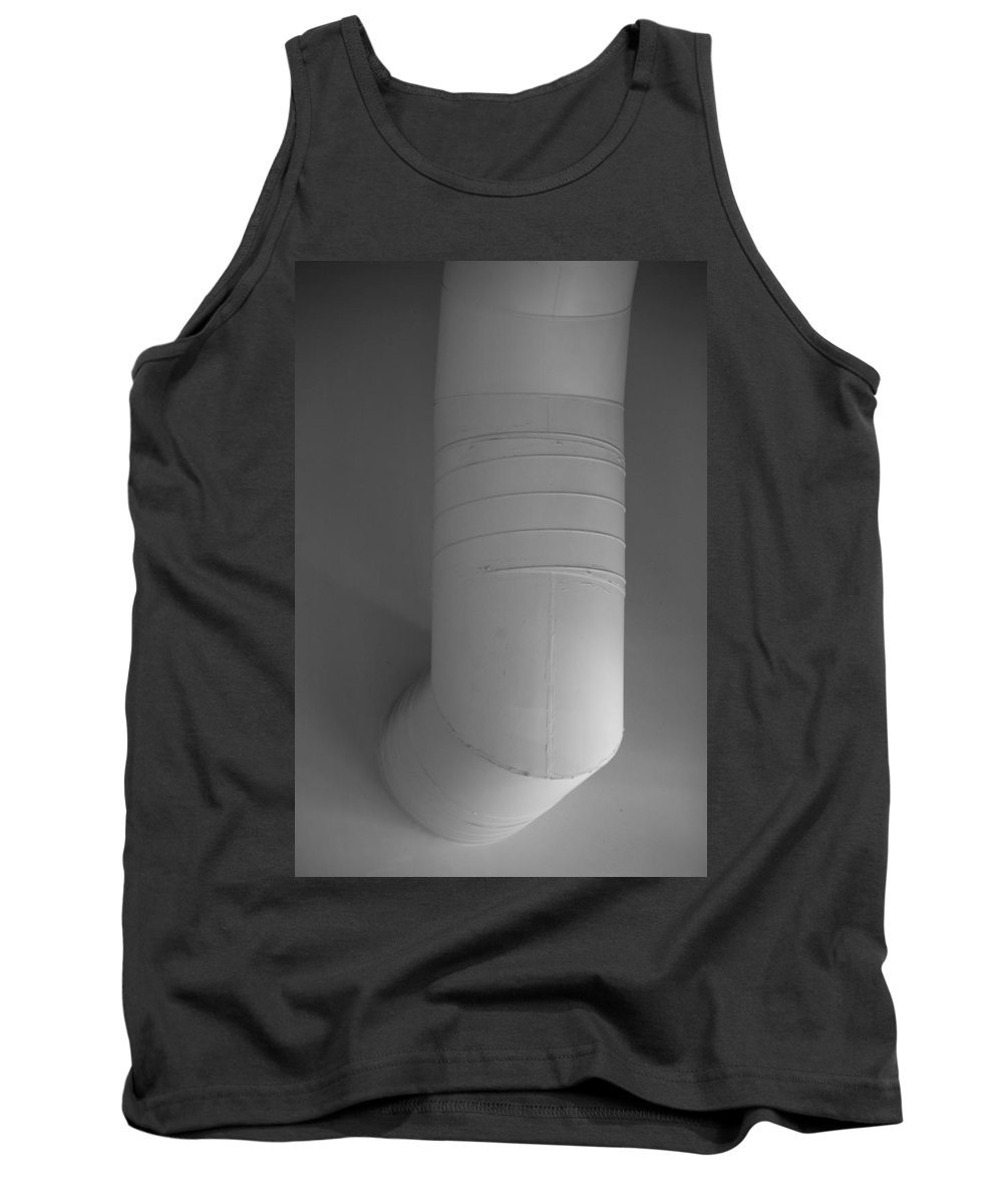 Black And White Tank Top featuring the photograph White Pipe by Rob Hans